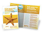 Agriculture and Animals: Star Fish Brochure Template #02556