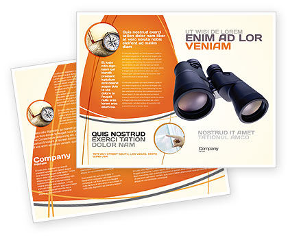 Business: Binoculars Brochure Template #02558