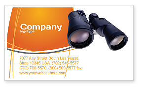 Binoculars Business Card Template, 02558, Business — PoweredTemplate.com