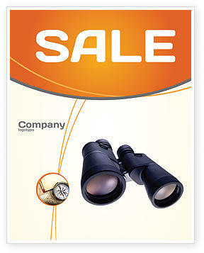 Binoculars Sale Poster Template, 02558, Business — PoweredTemplate.com