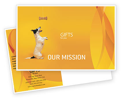 Pet Postcard Template, 02559, Business Concepts — PoweredTemplate.com