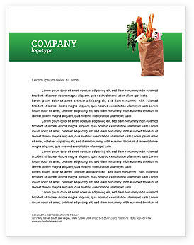 Products Letterhead Template, 02561, Food & Beverage — PoweredTemplate.com