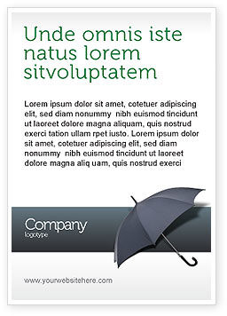 Umbrella Ad Template, 02562, Business Concepts — PoweredTemplate.com