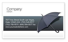 Umbrella Business Card Template, 02562, Business Concepts — PoweredTemplate.com