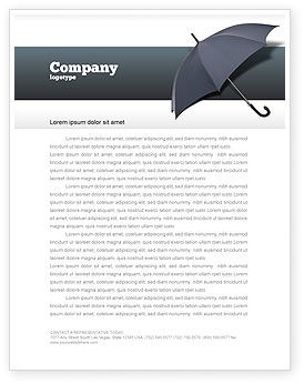 Business Concepts: Umbrella Letterhead Template #02562
