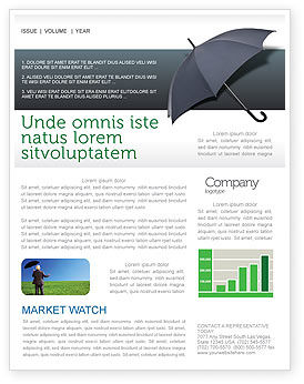 Umbrella Newsletter Template, 02562, Business Concepts — PoweredTemplate.com