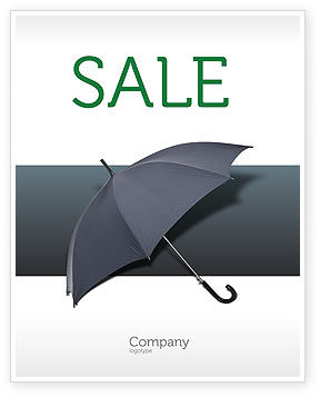 Business Concepts: Umbrella Sale Poster Template #02562