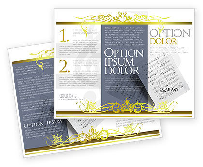 Printed Music Brochure Template Design And Layout Download Now