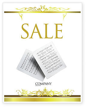 Education & Training: Printed Music Sale Poster Template #02563