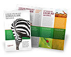 Agriculture and Animals: Zebra Brochure Template #02564