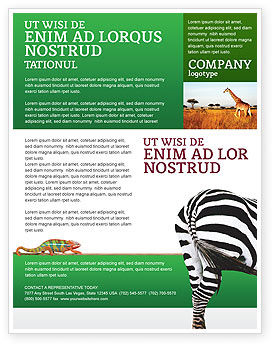 Agriculture and Animals: Zebra Flyer Template #02564