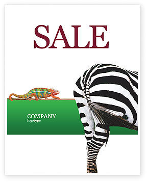 Agriculture and Animals: Modelo de Cartaz - zebra #02564