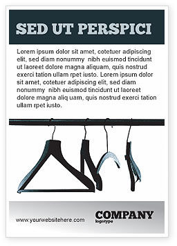 Business Concepts: Clothes Hangers Ad Template #02565