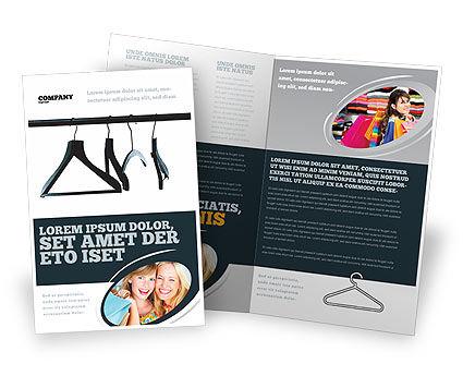 Clothes Hangers Brochure Template, 02565, Business Concepts — PoweredTemplate.com