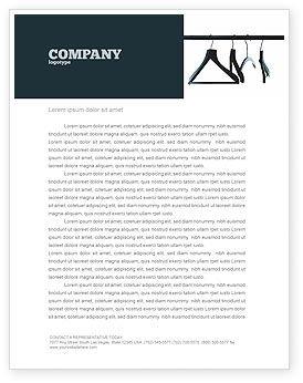 Business Concepts: Clothes Hangers Letterhead Template #02565