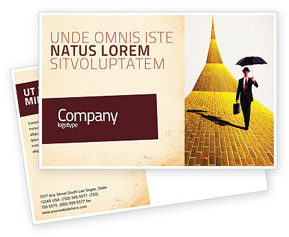 Business: Dream Land Postcard Template #02566