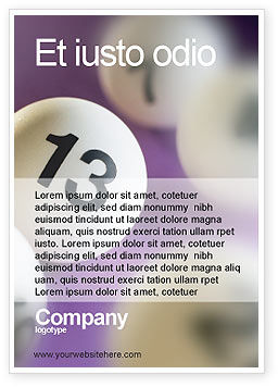 Art & Entertainment: Lotto Ballen Advertentie Template #02574