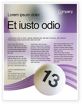 Art & Entertainment: Lotto Balls Flyer Template #02574