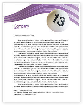 Art & Entertainment: Lotto Balls Letterhead Template #02574