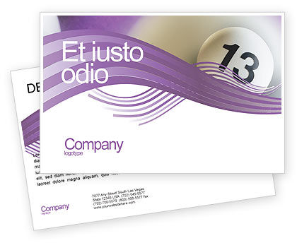 Art & Entertainment: Lotto Balls Postcard Template #02574