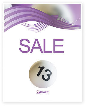 Lotto Balls Sale Poster Template, 02574, Art & Entertainment — PoweredTemplate.com