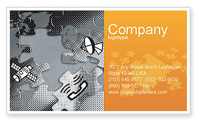 Telecommunication: Communication Technology Business Card Template #02578