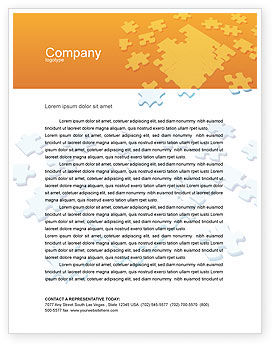 Communication Technology Letterhead Template, 02578, Telecommunication — PoweredTemplate.com