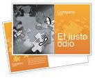 Telecommunication: Communication Technology Postcard Template #02578