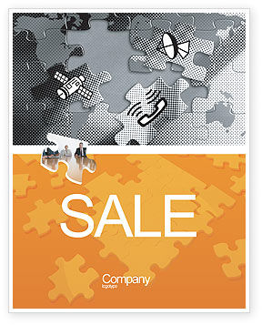 Telecommunication: Communication Technology Sale Poster Template #02578
