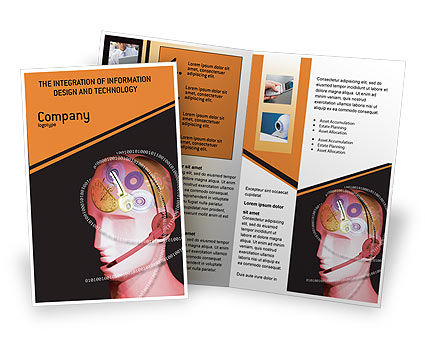 Mechanic Head Brochure Template, 02579, Technology, Science & Computers — PoweredTemplate.com