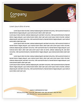 Technology, Science & Computers: Mechanic Head Letterhead Template #02579