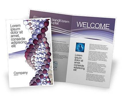 DNA On A Violet Brochure Template