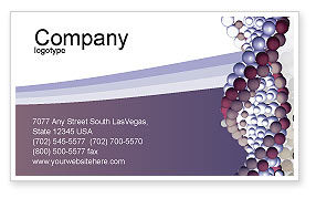 DNA On A Violet Business Card Template, 02581, Medical — PoweredTemplate.com