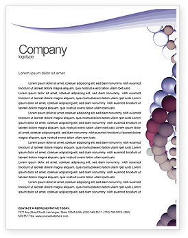 Medical: DNA On A Violet Letterhead Template #02581