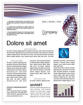 Medical: DNA On A Violet Newsletter Template #02581