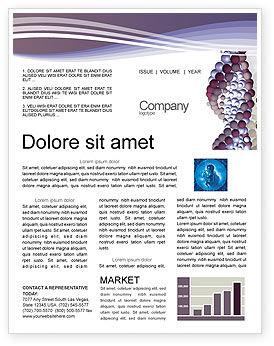 DNA On A Violet Newsletter Template, 02581, Medical — PoweredTemplate.com