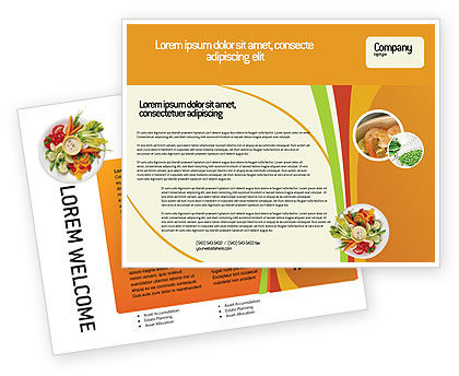 Food & Beverage: Vegetarian Food Brochure Template #02582