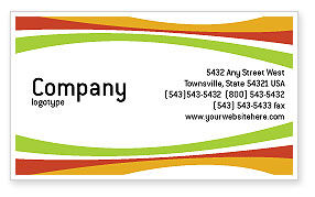 Food & Beverage: Vegetarian Food Business Card Template #02582