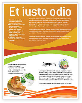 Vegetarian Food Flyer Template, 02582, Food & Beverage — PoweredTemplate.com