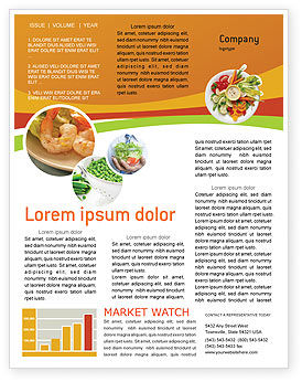 Vegetarian Food Newsletter Template