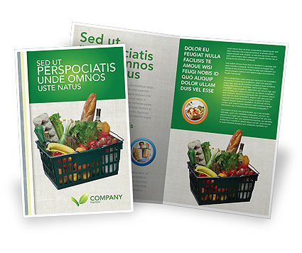 Market Basket Brochure Template, 02583, Careers/Industry — PoweredTemplate.com