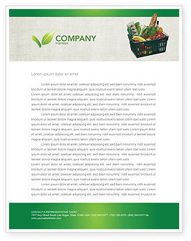 Market Basket Letterhead Template, 02583, Careers/Industry — PoweredTemplate.com