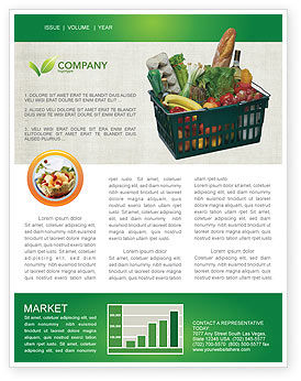Careers/Industry: Market Basket Newsletter Template #02583