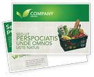 Careers/Industry: Market Basket Postcard Template #02583