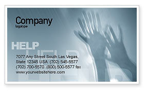 Help Business Card Template