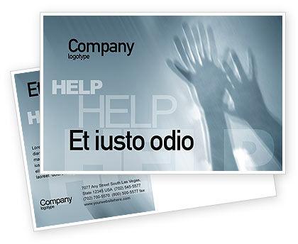 Religious/Spiritual: Help Postcard Template #02584