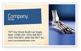 Skeletal Foot Business Card Template, 02589, Medical — PoweredTemplate.com