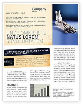 Skeletal Foot Newsletter Template, 02589, Medical — PoweredTemplate.com