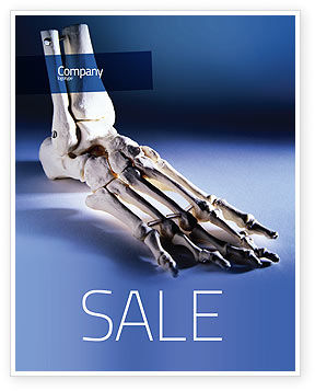 Skeletal Foot Sale Poster Template, 02589, Medical — PoweredTemplate.com