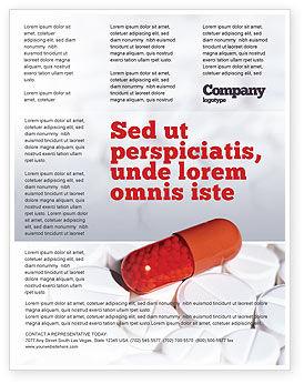 Medication Flyer Template, 02592, Medical — PoweredTemplate.com